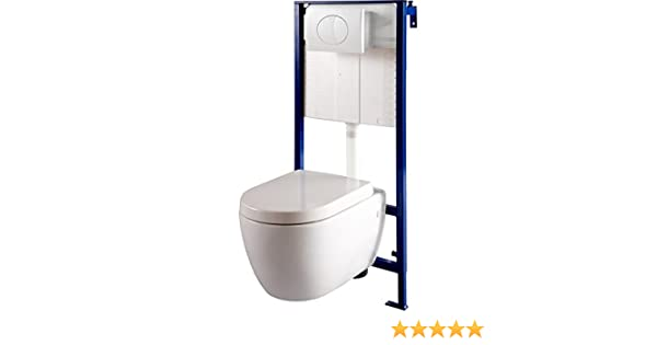 PlaneteBain – Pack de WC suspendido para pared con inodoro (NF): Amazon.es: Hogar