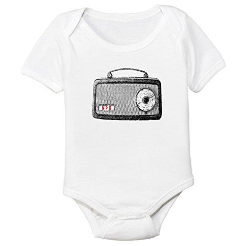 Vintage Radio Organic Cotton Baby Bodysuit (0-3M)