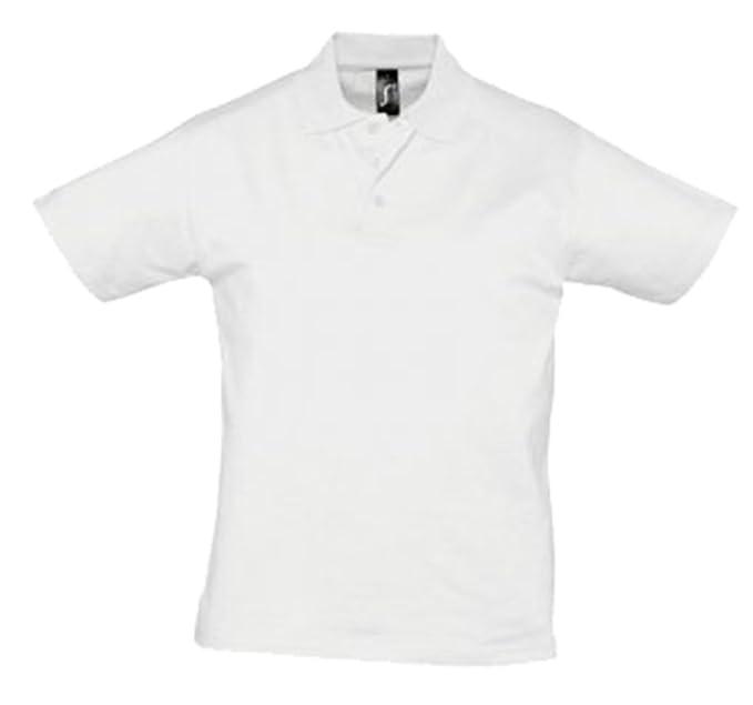 SOLS del Prescott para hombre Jersey Polo camisa Blanco L: Amazon ...