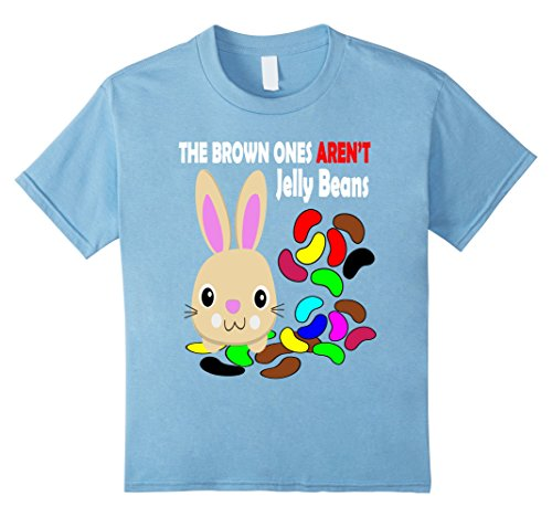 [Kids Easter Bunny Shirt The Brown Ones Aren't Jelly Beans  10 Baby Blue] (Jelly Bean Costumes For Babies)