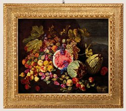 Still Life with Squash, Melon, Pears, Figs, Peaches, Grapes and Figs