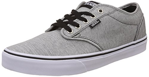 Vans Men's Washed Jersey, Grey and White Sneakers - [8...