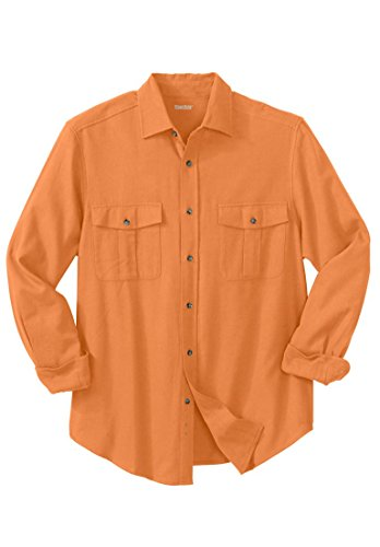 Tall Solid Double-Brushed Flannel Shirt, Terracotta ()