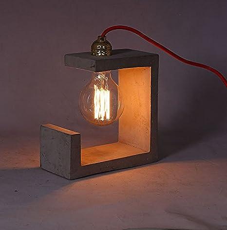 Lámpara de mesa de hormigón - diseño industrial ...