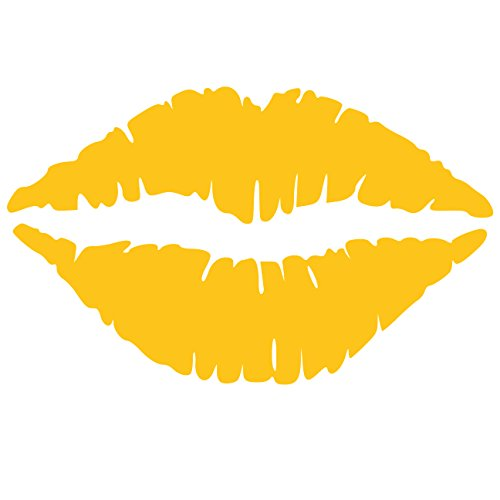 Kiss Wall Decal Sticker - Kissing Lips Decoration Mural - Decal Stickers and Mural for Kids Boys Girls Room and Bedroom. Kiss Daffodil Wall Art for Home Decor and Decoration - Silhouette Mural