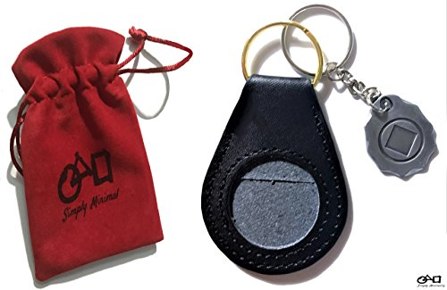 3 Pack Bundle 1 Premium Na Aa Recovery Token Coin Holder Birthday Medallion, 1 Custom Made Na Metal Keychain And 1 Free Gift Velvet Pouch