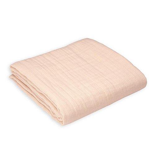 Oliver & Rain Baby Swaddle Blanket - Newborn 100% Organic Cotton Solid Light Pink Muslin Swaddle Blanket