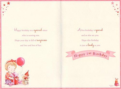 Niece 1st Birthday Card Happy Birthday Niece Today Youre 1