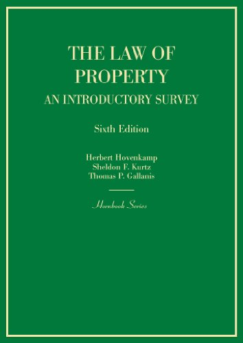 Hornbook on the Law of Property: An Introductory Survey, 6th (Hornbooks)