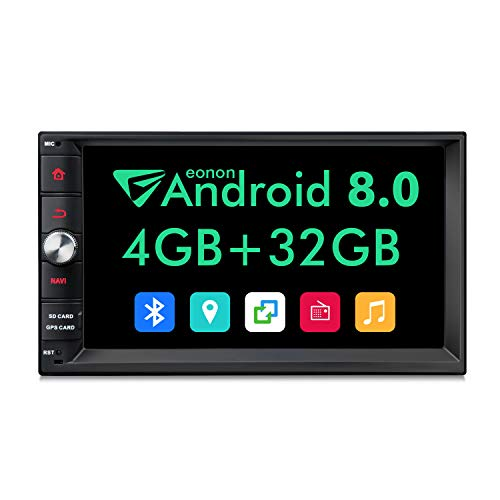 Eonon Android Head Unit, Android Car Stereo,Double Din Car Stereo 4GB with GPS and WiFi,Support Fastboot, Backup Camera,Double Din with Sub Output, 7 inch Touch Screen-GA2170