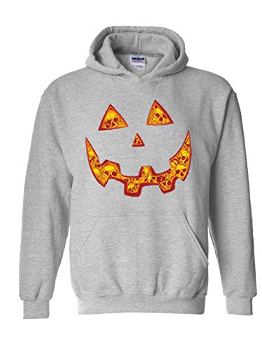 Halloween Costume Pumpkin Face Unisex Hoodie (SSG) Sport Grey -