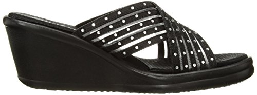 Rumblers Slide Black Flashies Women's Skechers Cali nWT8USS