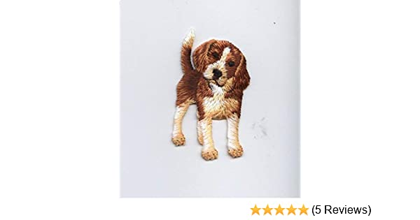 Cocker Spaniel Fully embroidered Iron On Applique Patch Dog Pet