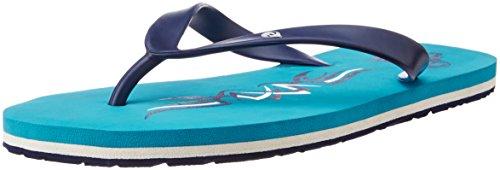 ID Men's Aqua Flip-Flops and House Slippers