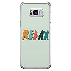 Samsung Galaxy S8 Transparent Edge Phone Case Relax Phone Case Weekend Phone Case Vacation Samsung S8 Cover with See through edges