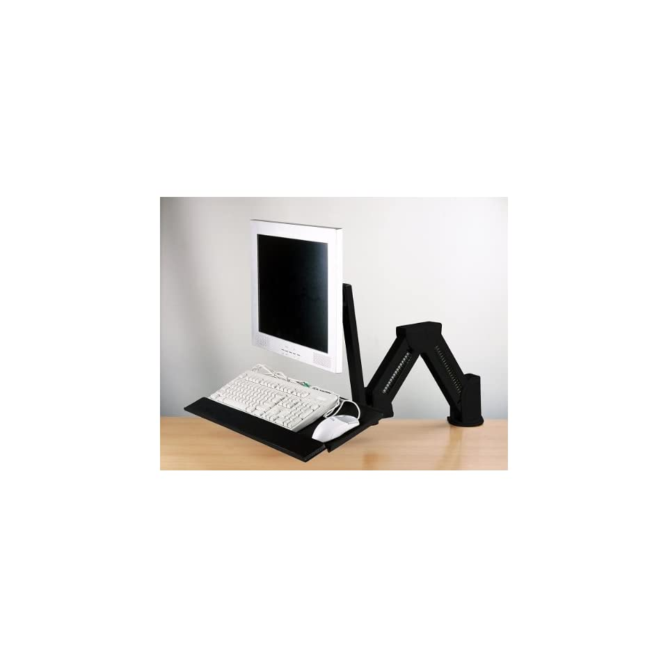 LCD Monitor/Keyboard Extension Stand Wall Mount/Desktop Clamp Black(002 0003B) Computers & Accessories