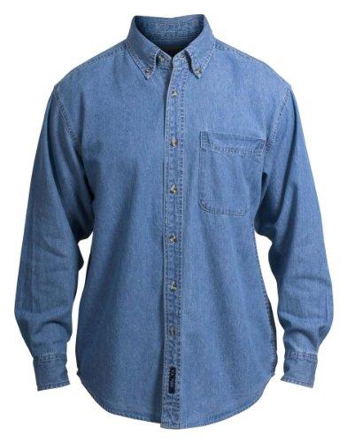 Port Authority - Long Sleeve Denim Shirt - Faded Denim S600 ()