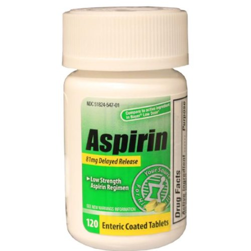 (Adult Low Dose 81 Mg Aspirin [24 Pieces] - Product Description - Adult Low Dose 81 Mg Aspirin Compares To The Active Ingredient In Bayer Low Dose. Each Bottle Of)