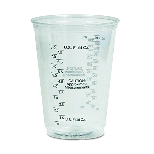 Measuring Cup Case Pack - Dart TP10DGM 10 oz Graduated Medical Ultra Clear PET Plastic Cup (Case of 1000)