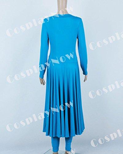 CosplayNow Star Trek Deanna Troi Cosplay Costume Dress Blue Custom Made by CosplayNow (Image #4)