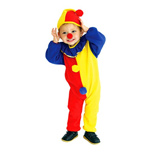 BESTOYARD Kids Funny Clown Costume Suit Cute Long Sleeve Costumes for Cosplay Halloween Masquerade Performance -