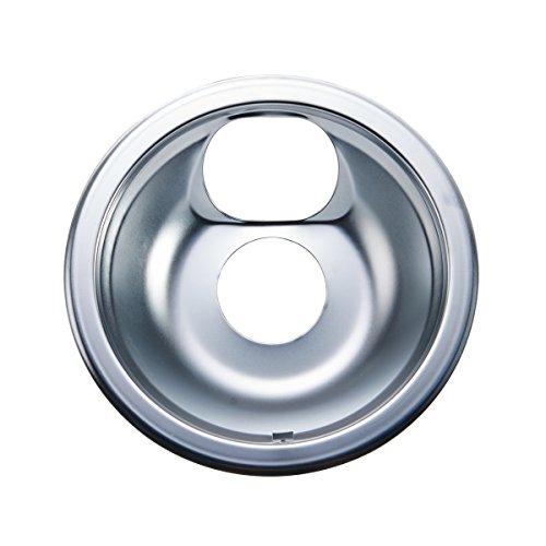 (Farberware 5217014 Classic Universal Stovetop Drip Pan/Burner Bibs with Square Slit, 6-Inch, Chrome)