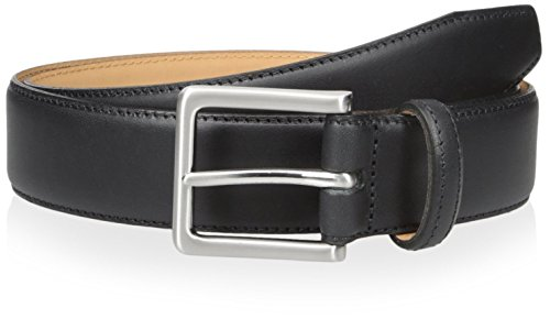 Franklin Tailored Men's Solid 35mm Dress Belt, Black, 36 US