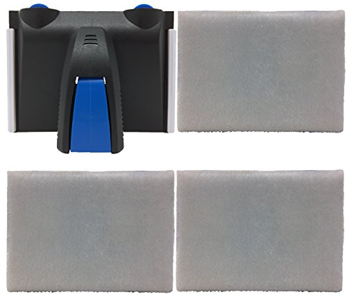 (Genuine Goods Paint Edger Plus attached Pad, 3 Easy Replacement Pads, Threaded handle)