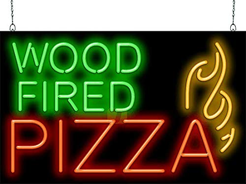Wood Fired Pizza Neon Sign ()