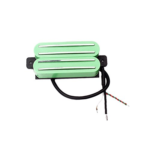 Ireav Double Rail Humbucker Pickup, Anlico V Pickup for Electric Guitar Parts (GREEN) ()