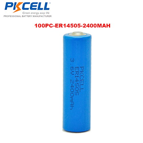 3.6V AA 2400mAh ER14505 Lithium Thionyl Chloride LiSOCl2 Battery 100PC by PK Cell