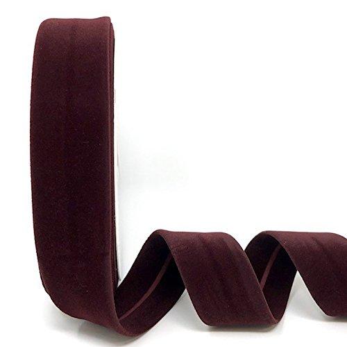 Byetsa Wine 30mm Velvet Bias Tape on a 10m Roll by Byetsa