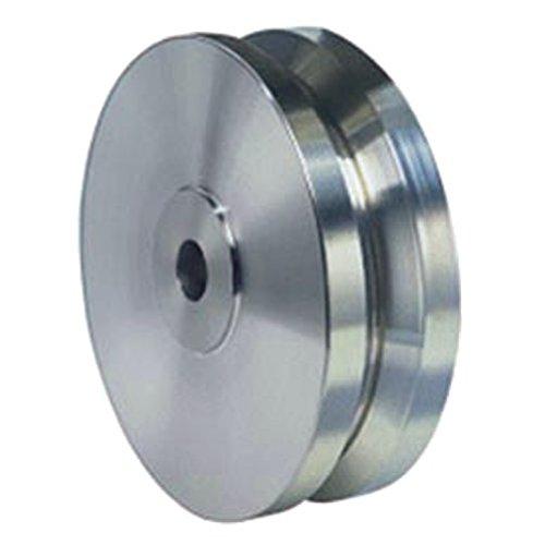 5'' X 2'' Stainless V-Groove Wheel, 3/4'' Plain Bore, 950 lb Capacity
