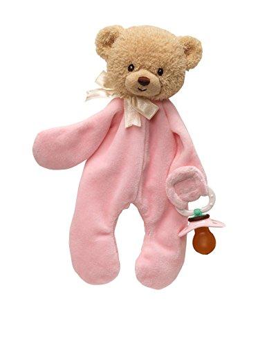 Gund Teddi Pink Pacifier Clip 10