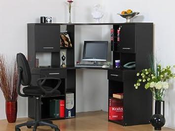 Eck computertisch  Eckschreibtisch mit Aufsatz Eck-Computertisch PC Tisch ...