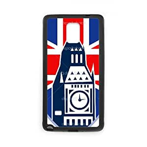 British Flag Samsung Galaxy Note 4 Cell Phone Case Black persent xxy002_6848763