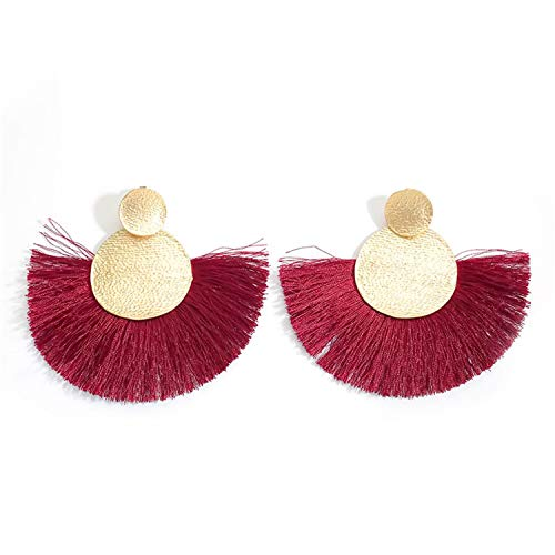 Attrastores Fine New Earrings Red Long Tassel Earrings Vintage Ethnic Fringed Earring for Women Fashion Earings ()