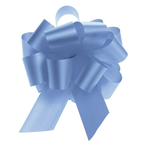 Light Blue Flora-Satin Pull Bows 5.5