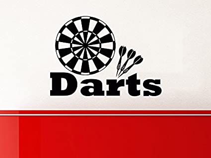 Dart wall decal target darts wall decals vinyl stickers teens boys nursery baby room home decor