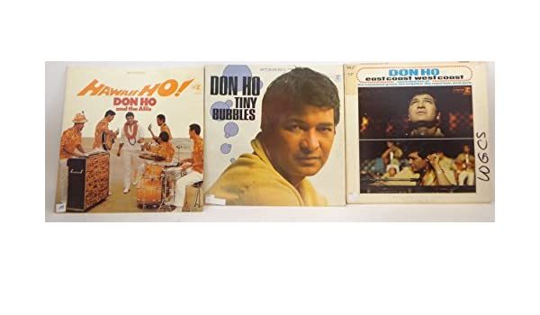 Don Ho Don Ho Lot Of 3 Vinyl Record Albums Tiny Bubbles And More