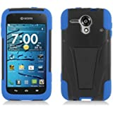 Aimo Wireless Skin Cover for Kyocera Hydro EDGE C5215 - Retail Packaging - Blue/Black