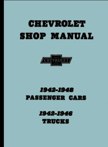 1942-1948 Chevrolet Chevy Car and 1942-1946 Truck Shop Service Repair Manual GM with FREE Self Adhesive Decal (Free Chevy Repair Manual)