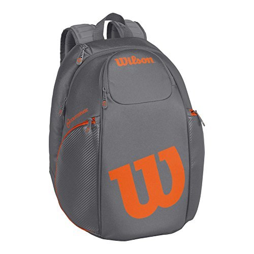 Wilson Burn Collection Racket Backpack, Grey/Orange Burn Pack
