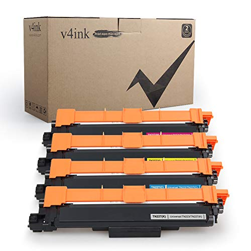 V4INK Compatible Toner Cartridge Replacement for Brother TN223 TN227 4-Pack KCMY With 2019 Newest Version Chips,for use in Brother Color LaserJet HL-L3230CDW HL-L3290CDW MFC-L3750CDW MFC-L3770CDW
