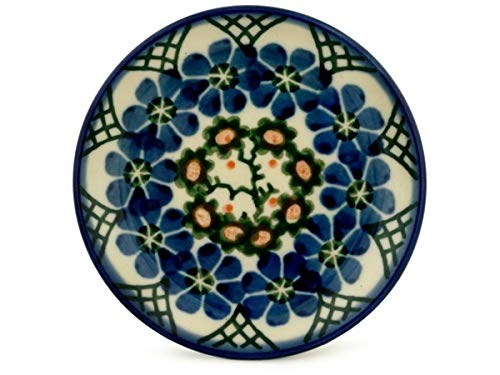 Polish Pottery Mini Plate made by Ceramika Artystyczna (Primrose Trellis Theme) + Certificate of Authenticity ()