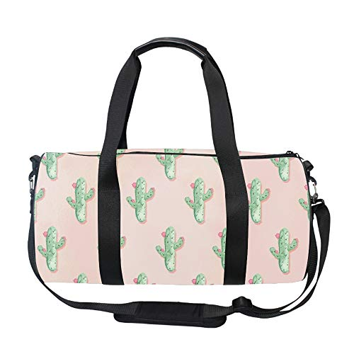 Travel Overnight Bag Pink Cactus Duffle Bag Oversized Luggage Bag Large Handbag for Men Women