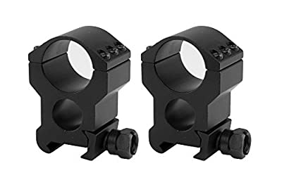Monstrum Tactical Lockdown Series High Performance Scope Rings | Picatinny | 1 Inch Diameter | High Profile with See-Through Base from Monstrum Tactical