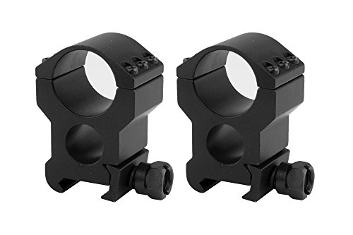 (Monstrum Tactical Lockdown Series High Performance Scope Rings | Picatinny | 1 Inch Diameter | High Profile with See-Through Base)