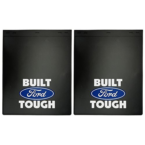 Universal Fit Mud / Splash Guards - Dually Built Ford Tough Blue Oval Logo 18.5