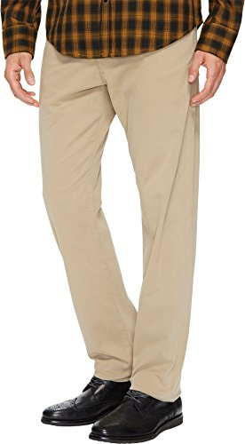 AG Adriano Goldschmied Men's The Graduate Tailored Straight SUD Sueded Stretch Sateen Khaki 33 32 from AG Adriano Goldschmied